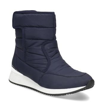 Granatowe śniegowce damskie bata, niebieski, 599-9626 - 13