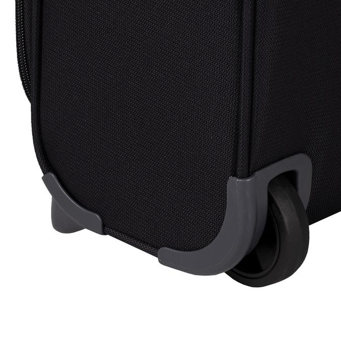 Czarna walizka na kółkach, zmateriału tekstylnego samsonite, czarny, 969-6618 - 16
