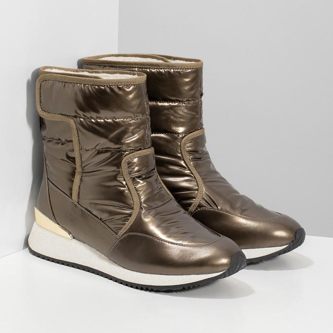 Damskie śniegowce brązowe bata, brąz, 599-8626 - 26