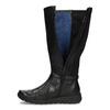 Czarne skórzane kozaki damskie bata, czarny, 594-6684 - 17