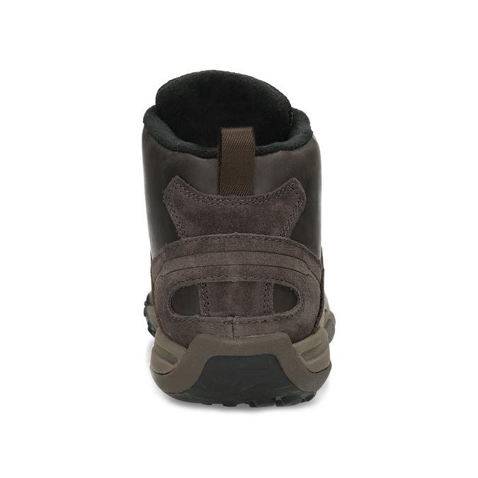 Brązowe skórzane obuwie męskie za kostkę merrell, brązowy, 806-4102 - 15