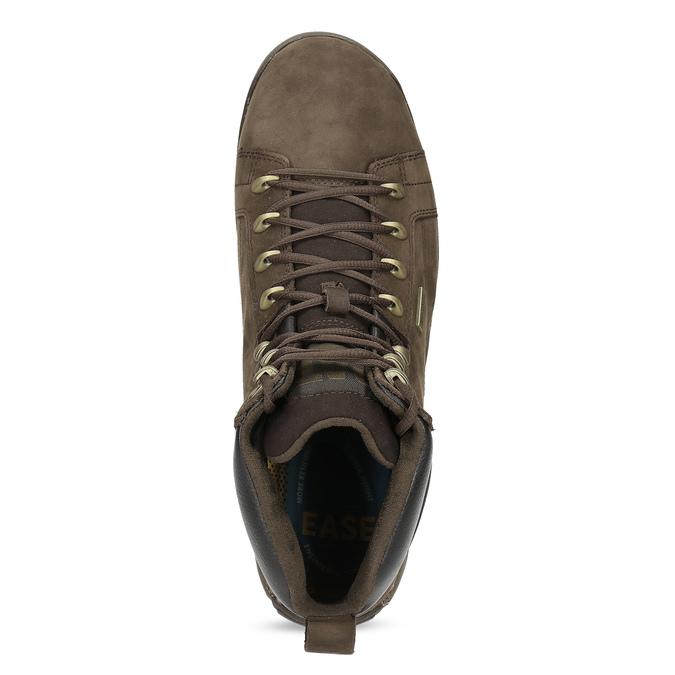 Brązowe skórzane obuwie męskie wstylu outdoor caterpillar, brązowy, 806-4108 - 17