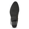 Brązowe skórzane botki zplastycznymi połączeniami bata, brązowy, 696-2653 - 18