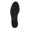 Czarne skórzane kozaki zmetalowymi ćwiekami bata, czarny, 596-6725 - 18