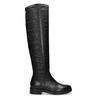 Czarne skórzane kozaki zmetalowymi ćwiekami bata, czarny, 596-6725 - 19