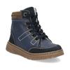 Granatowe skórzane obuwie dziecięce na zimę mini-b, niebieski, 294-9601 - 13
