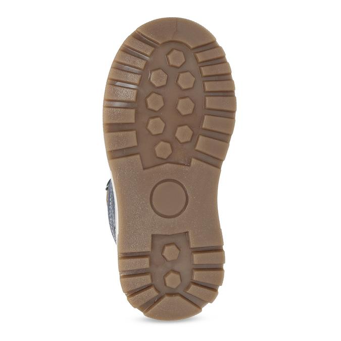 Granatowe skórzane obuwie dziecięce na zimę mini-b, niebieski, 294-9601 - 18