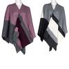 Ponczo damskie zmateriału tekstylnego bata, multi color, 909-0647 - 13