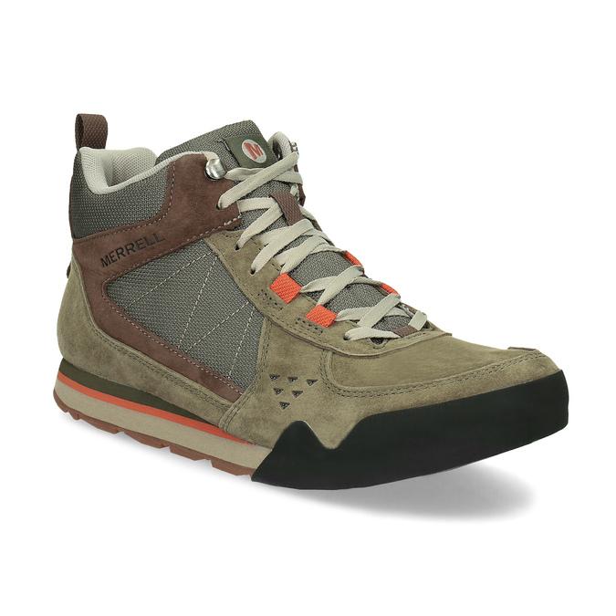 Skórzane obuwie męskie wstylu outdoor, wkolorze khaki merrell, khaki, 803-7104 - 13