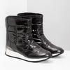 Damskie śniegowce metaliczne czarne bata, czarny, 599-6626 - 26
