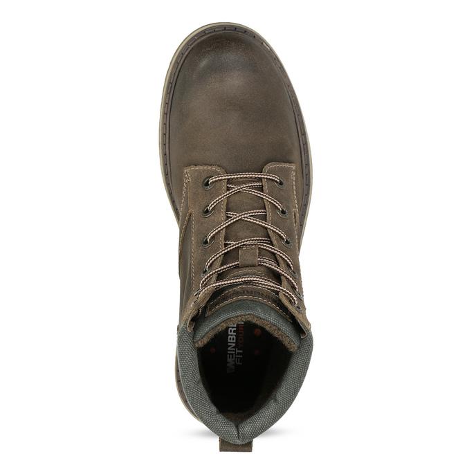 Brązowe zimowe obuwie męskie ze skóry weinbrenner, brązowy, 896-4693 - 17