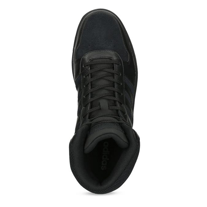 Czarne trampki męskie za kostkę adidas, czarny, 803-6118 - 17