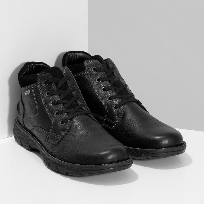 Zimowe skórzane obuwie męskie bata, czarny, 894-6715 - 26