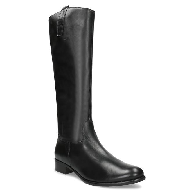 Czarne skórzane kozaki damskie gabor, czarny, 694-6179 - 13