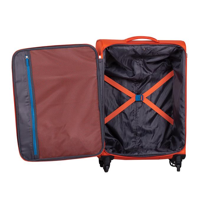 Pomarańczowa walizka zmateriału tekstylnego american-tourister, pomarańczowy, 969-8172 - 17