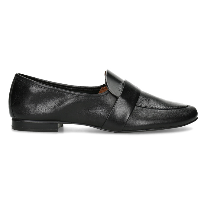 Czarne skórzane loafersy damskie calvin-klein, czarny, 514-6075 - 19