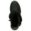 Zimowe skórzane obuwie damskie zprzeszyciami weinbrenner, czarny, 596-6751 - 17