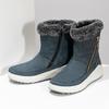 Niebieskie skórzane śniegowce damskie weinbrenner, niebieski, 593-9603 - 16