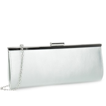 Elegancka kopertówka damska na łańcuszku bata, srebrny, 969-1811 - 13
