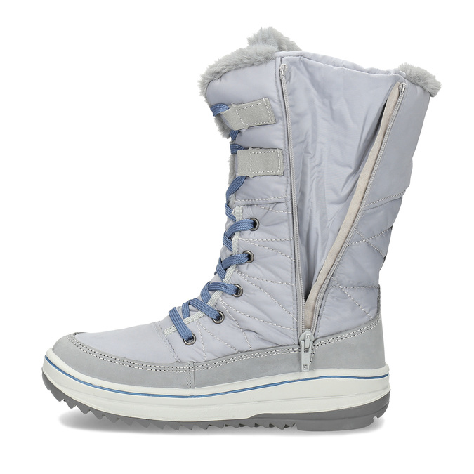 Granatowe śniegowce damskie zociepliną weinbrenner, szary, 599-9631 - 17