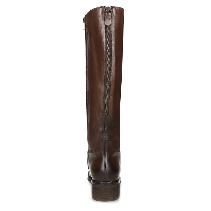 Brązowe skórzane kozaki damskie gabor, brązowy, 696-3183 - 15
