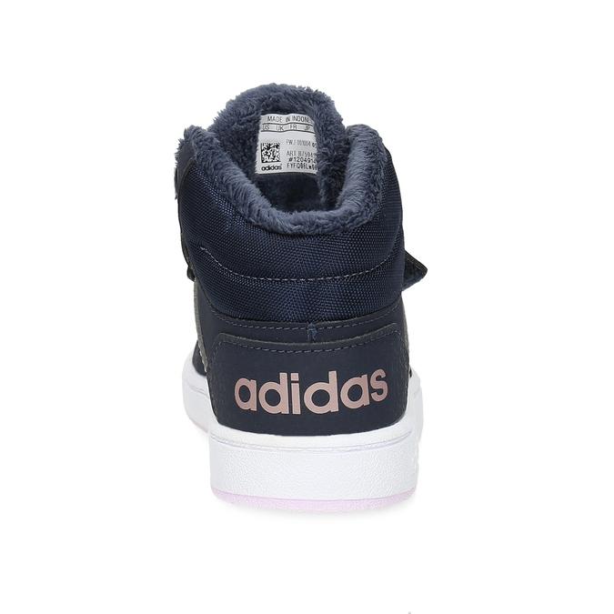 Granatowe zimowe trampki dziecięce za kostkę adidas, niebieski, 101-9197 - 15
