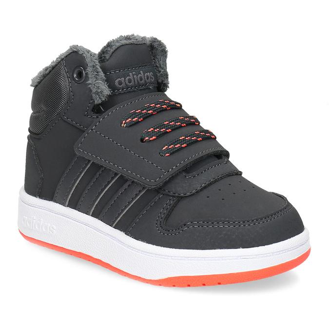 Szare zimowe trampki dziecięce za kostkę adidas, szary, 101-2197 - 13