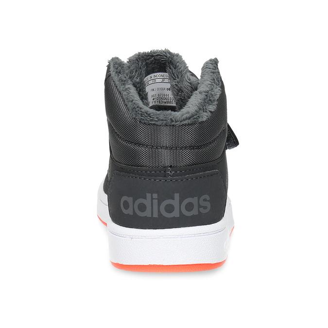 Szare zimowe trampki dziecięce za kostkę adidas, szary, 101-2197 - 15