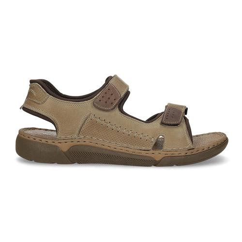 Czarno-granatowe skórzane sandały męskie weinbrenner, brązowy, 866-4643 - 19