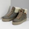 Zimowe skórzane obuwie damskie weinbrenner, zielony, 596-7750 - 16