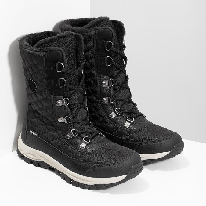 Pikowane zimowe śniegowce damskie bata, czarny, 599-6623 - 26