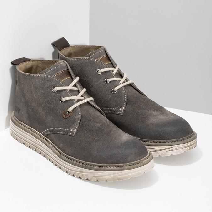 Zamszowe obuwie męskie za kostkę weinbrenner, szary, 896-2735 - 26