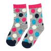 Długie różowe skarpetki dziecięce wgroszki bata, multi color, 919-5686 - 26