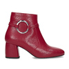 Czerwone skórzane botki zklamrami bata, czerwony, 794-5608 - 19