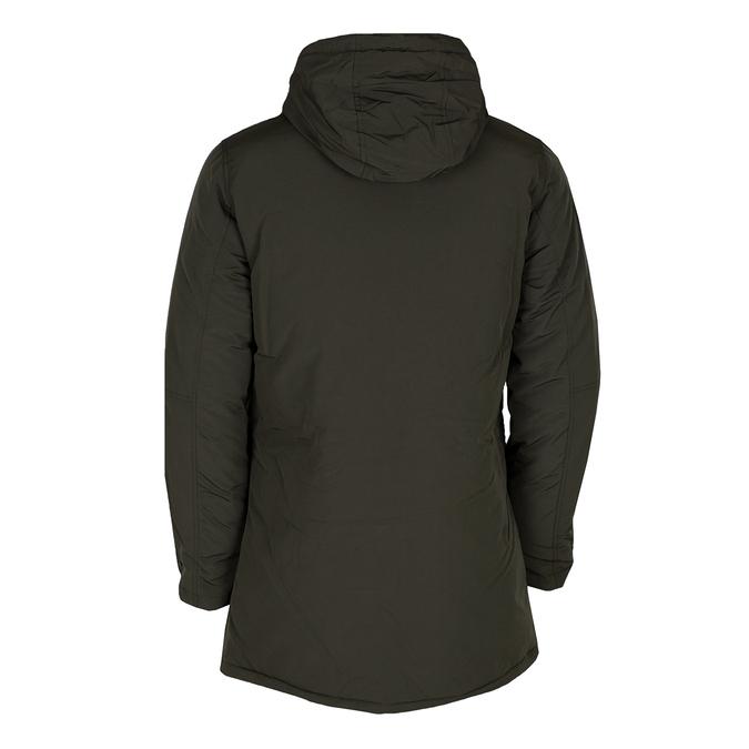 Długa kurtka męska wkolorze khaki, zkapturem bata, zielony, 979-7366 - 26