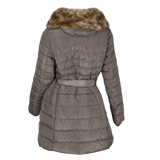Pikowana kurtka damska zfuterkiem bata, brązowy, 979-8325 - 26