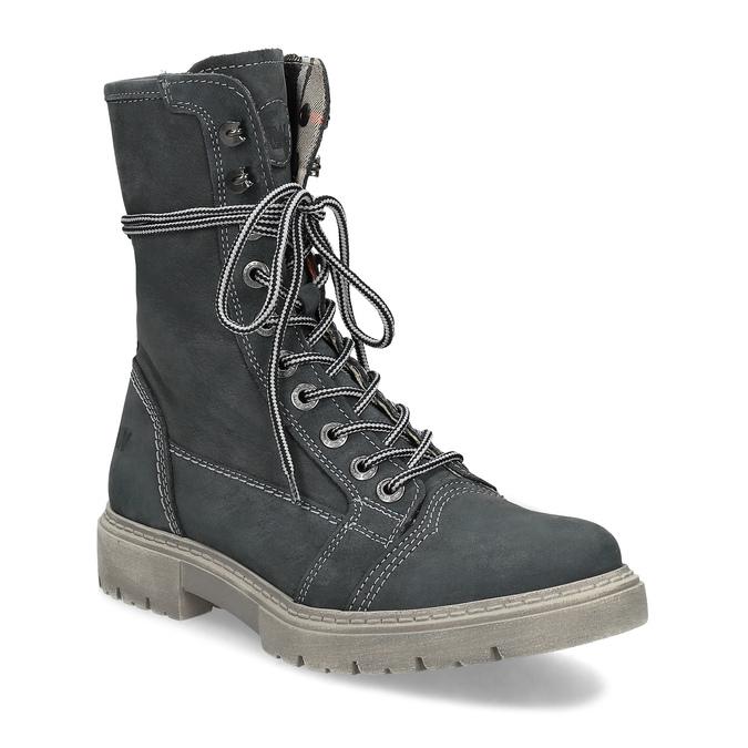 Wysokie skórzane obuwie damskie weinbrenner, szary, 596-2746 - 13