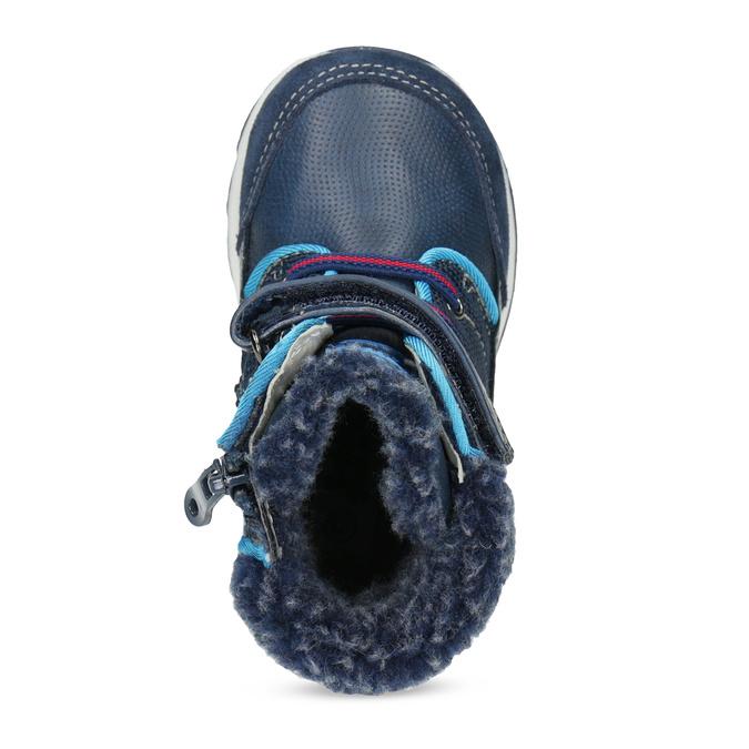 Granatowe zimowe obuwie dziecięce zociepliną, niebieski, 191-9616 - 17