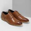 Brązowe skórzane półbuty męskie bata, brązowy, 826-3615 - 26
