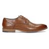Brązowe skórzane półbuty męskie bata, brązowy, 826-3615 - 19