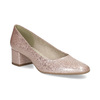 Beżowe lakierowane czółenka damskie bata, różowy, 621-5657 - 13
