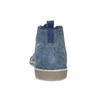Granatowe skórzane desert boots męskie bata, niebieski, 823-9655 - 15