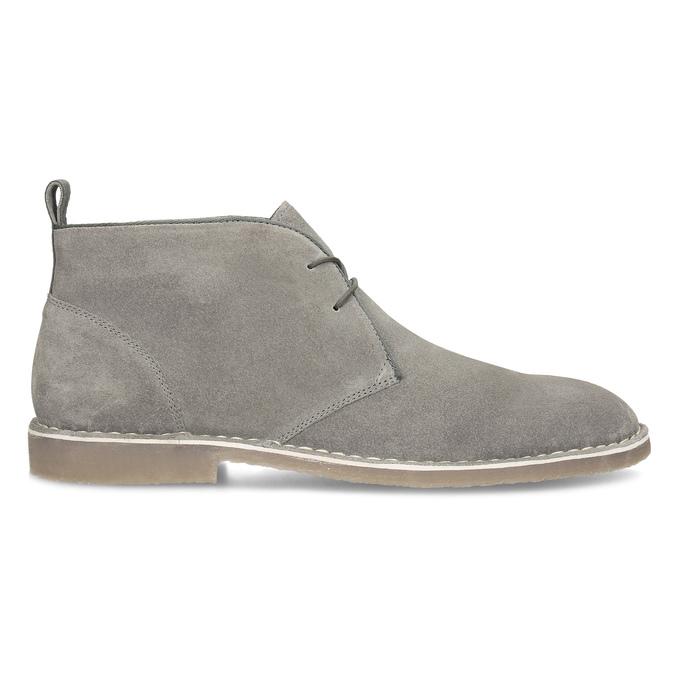 Szare skórzane obuwie męskie typu desert boots bata, szary, 823-8655 - 19