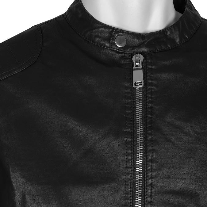 Czarna kurtka męska ze srebrnymi zamkami błyskawicznymi bata, czarny, 971-4221 - 16